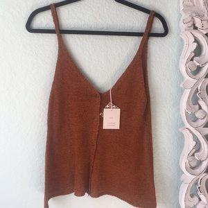 Burnt Orange/Rust colored knit top